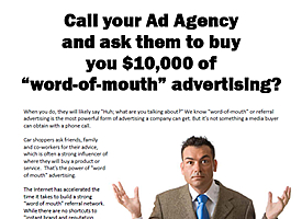 Powerful Word of Mouth Marketing for Auto Dealers
