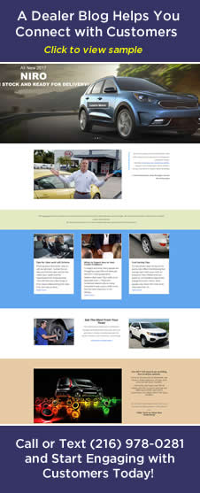 Dynamic Auto Dealer Blogs Connect and Promote Sales and Services